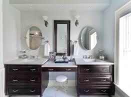Two Sink Vanity Exciting Double Sink Vanity With Makeup Area 81 In Trends Design