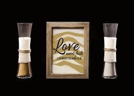 Sand For Wedding Unity Vase On Sale Love Never Fails Rustic Barn Wood Wedding Sand