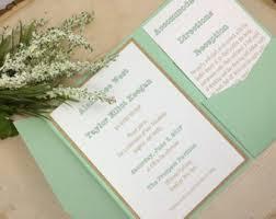 Mint Wedding Invitations Mint Wedding Invite Etsy