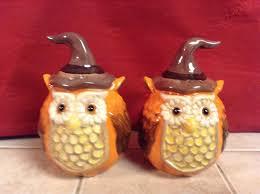 halloween owls cut u0026 colorful halloween owls salt and pepper shakers u2022 14 95