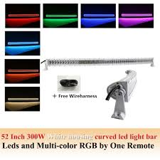 Led Light Bar Driving Lights by White Housing Combo Bean 50 52 Inch 300w Curved Led Light Bar With