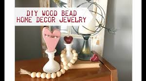 Diy Wood Home Decor Diy Wood Bead Home Decor Jewelry Youtube