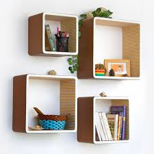 creative idea awesome modern square wall shelves for collections