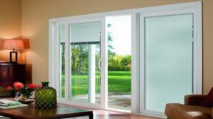 decor glass vinyl sliding patio doors lowes with white blind for