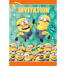 wrap party invitations despicable me party supplies birthdayexpress com