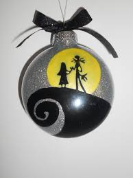 nightmare before christmas couple ornament by simplydez on etsy