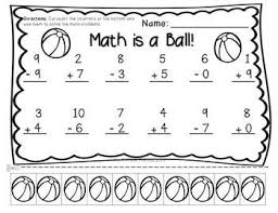 addition and subtraction worksheets for kindergarten worksheets