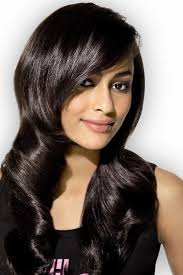 long hair styles with swoop bangs black hair swept bangs hairstyles for long black hair