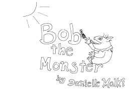 danielle u0027s writing samples bob monster printable coloring