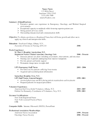Lpn Nursing Resume Examples by Oncology Nurse Resume Sample Free Resume Example And Writing