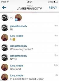 Kid Chat Rooms Under 12 by James Franco U0027hits On British Teenager 17 On Instagram And In