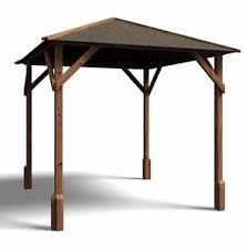 gazebo heavy duty gazebo kits wooden open heavy duty garden square bbq shelter