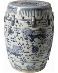 lion foo dog sweet deal on blue and white porcelain garden stool