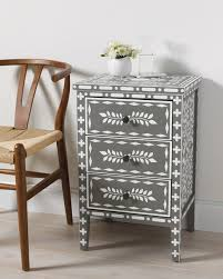 moroccan inlay stenciled end table martha stewart