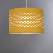 Ceiling Light Shade Hanbury Ochre Cut Out Shade Dunelm