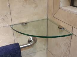 amazing corner glass shelf for shower 99 about remodel trends