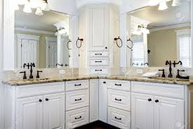 luxury large white master bathroom cabinets with double sinks