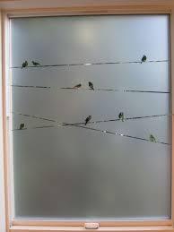 privacy windows bathroom stenciled birds on a window stencils pinterest bathroom