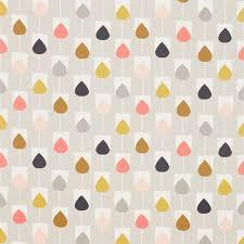 Scion Curtain Fabric Scion Sula Flamingo Honey Linen Cotton Made To Measure Curtains