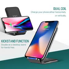 charge your phone rock w3 wireless dual coil phone charging stand fast wireless