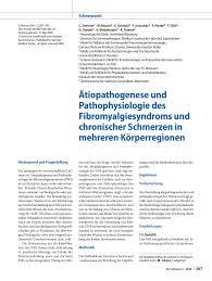 PDF [Etiology and pathophysiology of fibromyalgia syndrome and