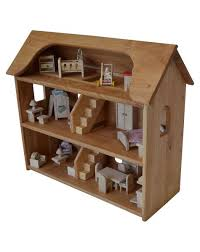seri u0027s dollhouse in hardwood with 5 rooms of furniture set elves