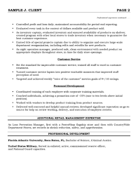 Sample Resume Sales Associate Retail by How To Write A Resume For A Sales Associate Position Choose