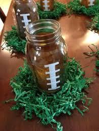 football centerpieces fantado regular clear jar 16oz 1 pint football