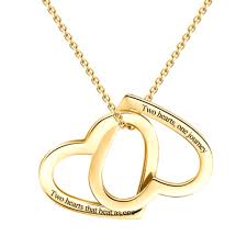 customized heart necklace easy custom online personalized gold silver jewelry store yafeini