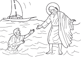 jesus walks on water coloring pages throughout on the page eson me