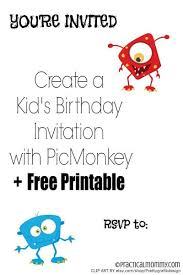 create a personalized kid u0027s birthday invitation with picmonkey