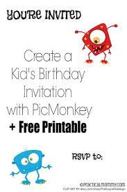 create a personalized kid u0027s birthday invitation with picmonkey