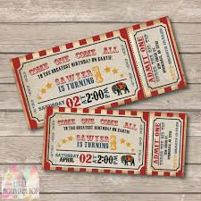 first birthday circus invitations