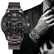 migeer watches for men 2017 luxury designer stainless steel quartz