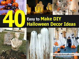 easy homemade halloween decorations outdoor 35 best ideas for