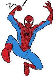 spiderman spider man black white clipart clipartfest