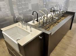 Kitchen Sink Displays Kitchen Sink Showroom Cheap Kitchen Sinks And Faucets Galore