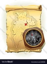 Treasure Island Map Map Of Treasure Island Royalty Free Vector Image