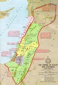 A New Map Of Jewish by History Books Solomon Empire And King David