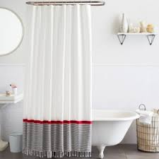 red and navy shower curtain color block shower curtain navy