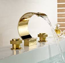 gold bathroom sink faucets solo gold tone sensor faucet
