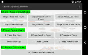 electrical calculations android apps on google play