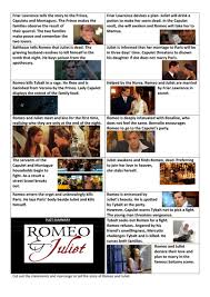 romeo and juliet plot sequencing worksheets by lesley1264
