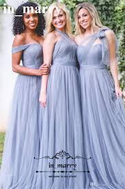 plus size ice blue long country bridesmaids dresses 2017 a line
