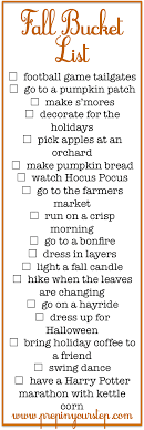 prep in your step fall list fall activities