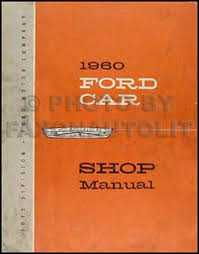 1960 ford specifications manual original