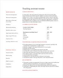 Teachers Assistant Resume Teacher Resume Sample 28 Free Word Pdf Documents Download