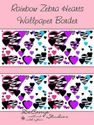 Wallpaper Borders For Girls Bedroom Pink Zebra Stripes Animal Print Star Wallpaper Border Wall