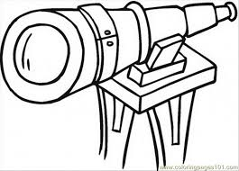 coloring pages big telescope technology optical free printable