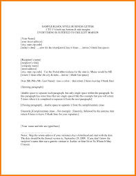 Formal Business Letter Template 6 Formal Letter Block Style Park Attendant
